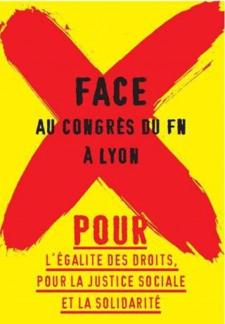 Tous à Lyon les 29 et 30 novembre 2014 contre le congrès du FN