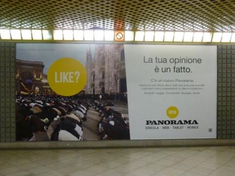 La haine du musulman dans le métro de Milano/Milan