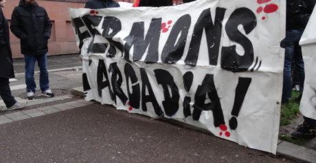 Strasbourg antifasciste contre l'Arcadia, prétendu Bastion social