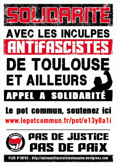 Soutien à l'Union Antifasciste Toulousaine