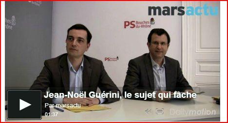 Langue de bois d'Alain Fontanel à propos de Jean-Noël Guérini