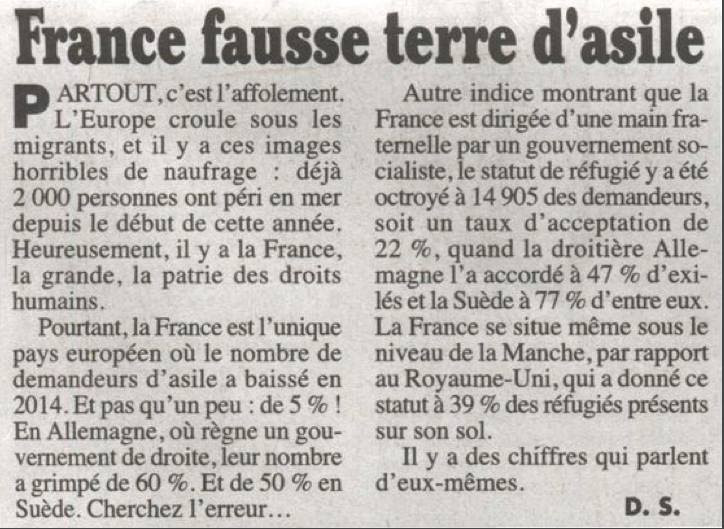 france fausse terre d'asile