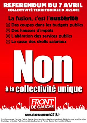 Fusion territoriale en Alsace, c'est NON!