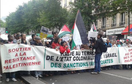 gaza manif Paris Barbès