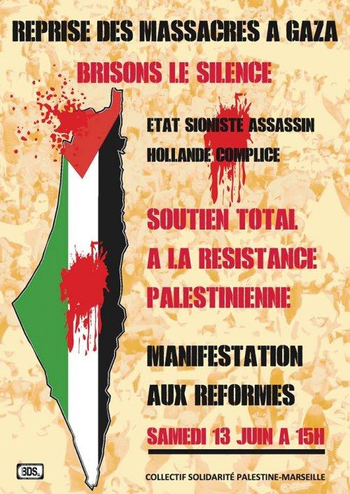 Manifestation à Marseille pour Gaza