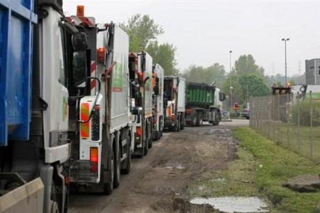 Senerval, usine d'incinération d'ordures ménagères de Strasbourg en grève illimitée