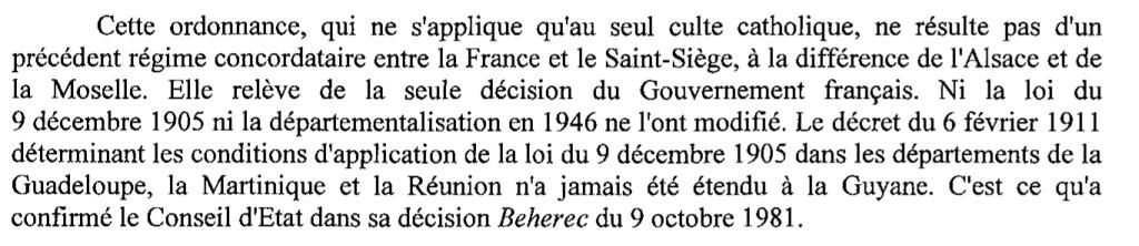 Un précédent en Guyane pour l'Alsace-Moselle