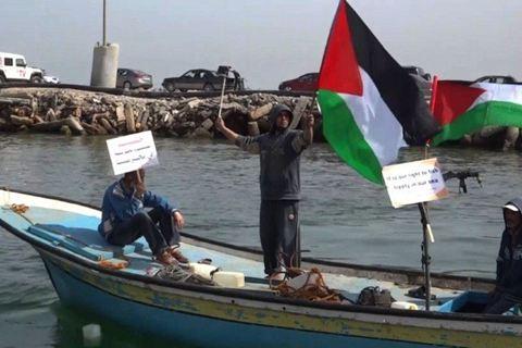 La manif en bateau des pêcheurs palestiniens