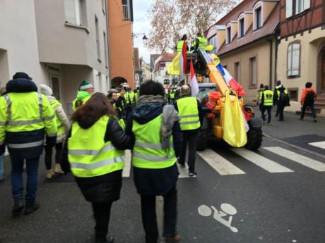 Gilets Jaunes d'Alsace: plus de 2000 à Colmar