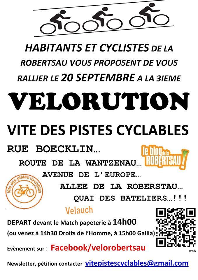 VÉLORUTION, Vite des pistes cyclables !