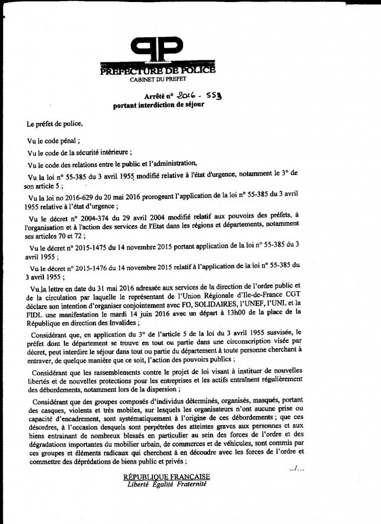Interdiction de manifestation nationale pour une inculpée de Strasbourg: solidarité avec notre camarade face à l'acharnement répressif