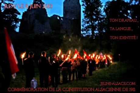 """""""Jeune Alsace"""" marche aux flambeaux …"""