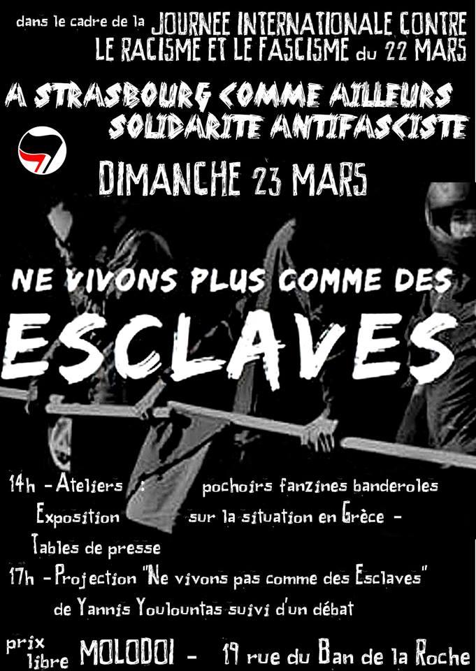 Journée contre le racisme et le fascisme le 23 mars au MolodoÏ (Strasbourg)