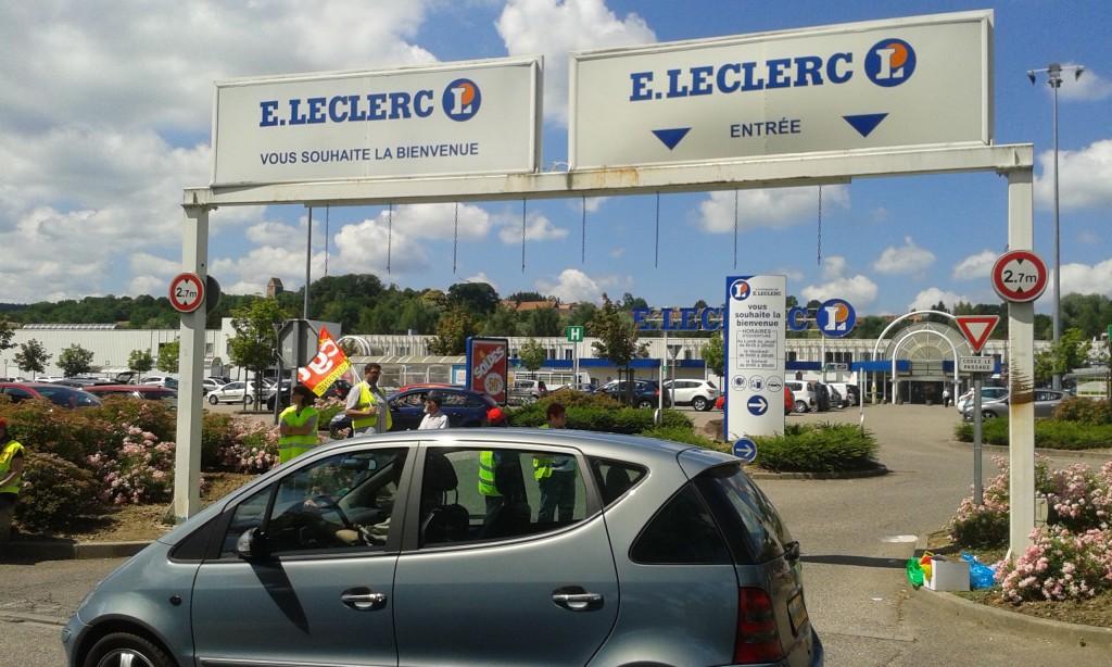 Grève au Leclerc Marmoutier