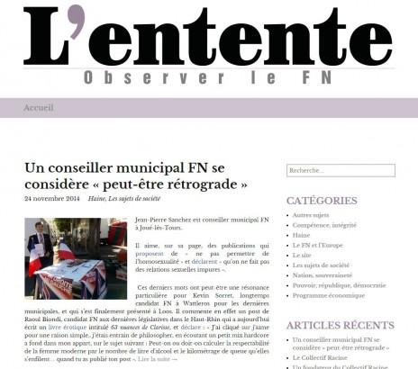 L'entente.net, le site qui recense les dérives racistes et antisémites du FN