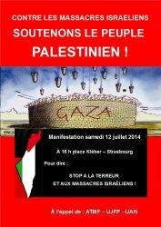 Appel à manifester pour la Palestine à Strasbourg (liste actualisée des organisations participantes)