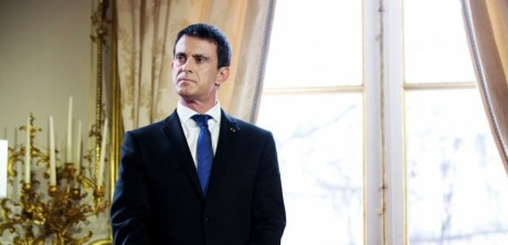 French Prime Minister Manuel Valls delivers his new year address to the press. Paris, FRANCE - 28/01/2016./CHAMUSSY_lcham036/Credit:CHAMUSSY/SIPA/1601281507