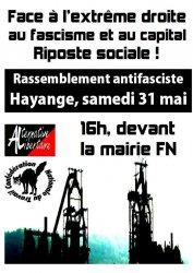 De Hayange à Forbach, face à l'extrême droite, riposte sociale !