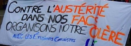 Fioraso à Strasbourg : étudiants, personnels et syndicats de la FSU et de SUD-Solidaires mobilisés pour dire NON à l'austérité !