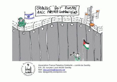 Orange – France Telecom complice de l'occupation israélienne de la Palestine