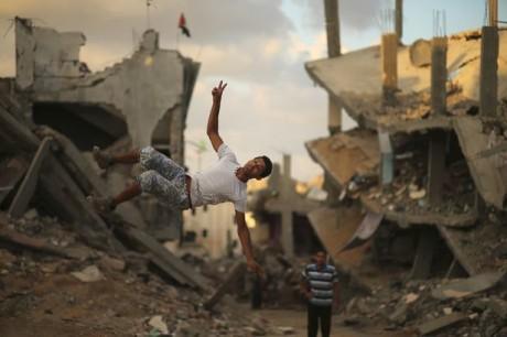Du parkour dans les ruines de Gaza