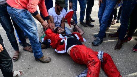 Gaza: le père Noël blessé par l'armée israélienne