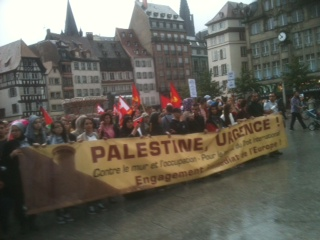 Marche pour Gaza à Strasbourg le 30 juillet 2014