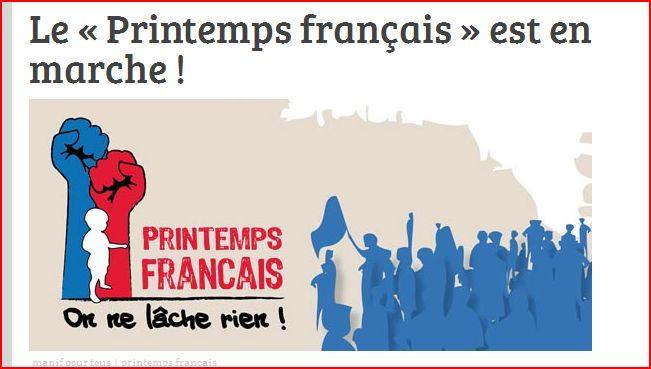 """Un """"printemps français"""" réactionnaire"""