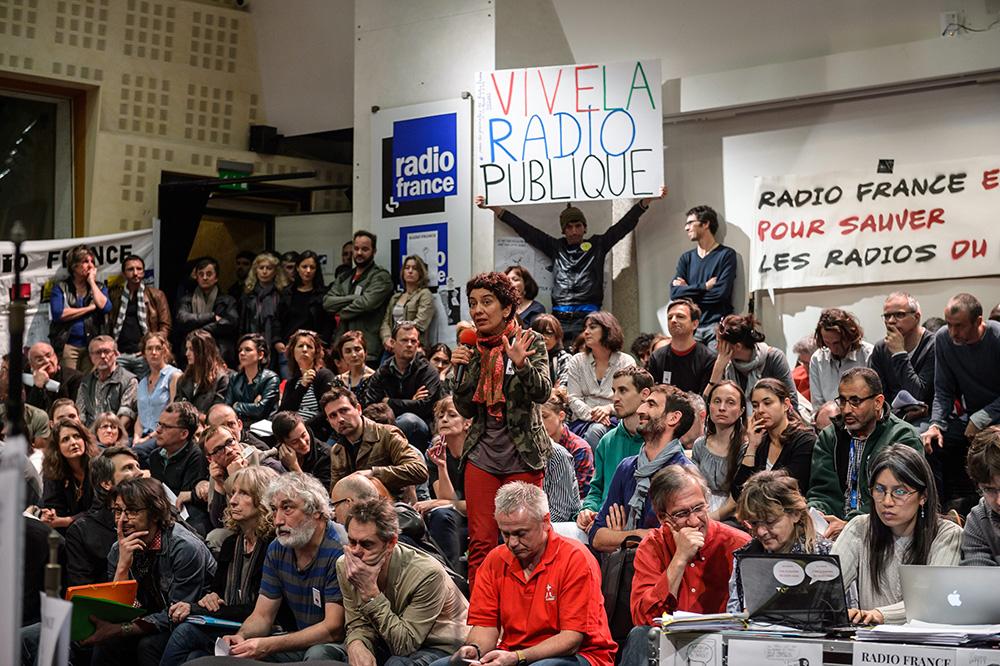 Radio France : récit d'une assemblée générale explosive, au 27e jour de grève