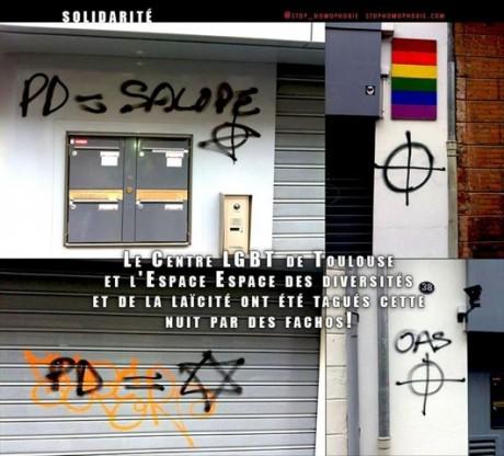 Tags néos-nazis à Toulouse
