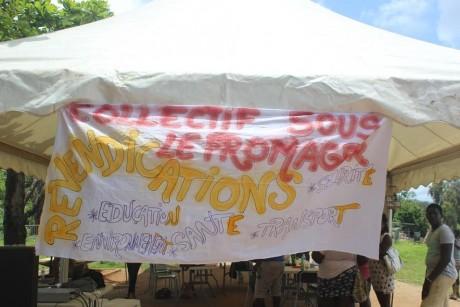 Des images de la grève générale en Guyane