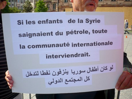 """Syrie/Strasbourg: halte aux massacres  et à l'inaction de la """"communauté internationale""""!"""
