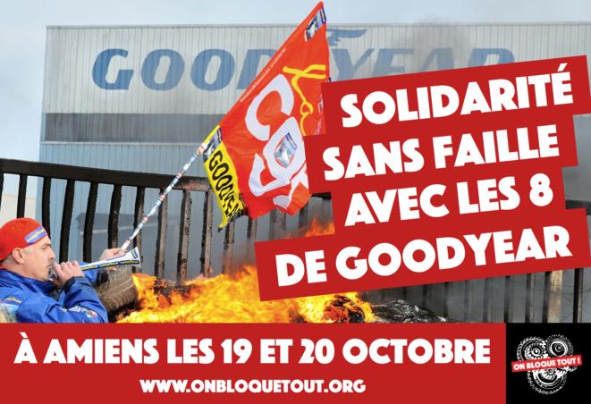 Solidarité sans faille avec les 8 de Goodyear – Ensemble contre la répression antisyndicale