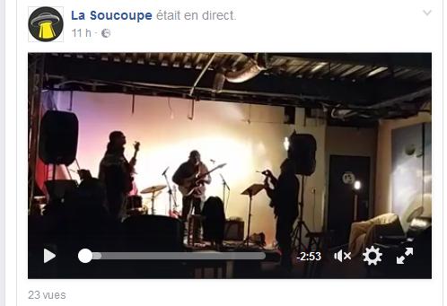 One Shot Band à la Soucoupe à Schiltigheim