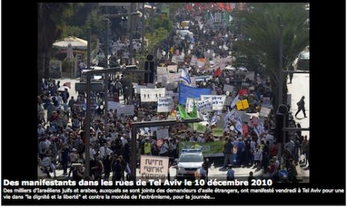 Des milliers d'Israéliens défilent à Tel Aviv pour les droits de l'Homme