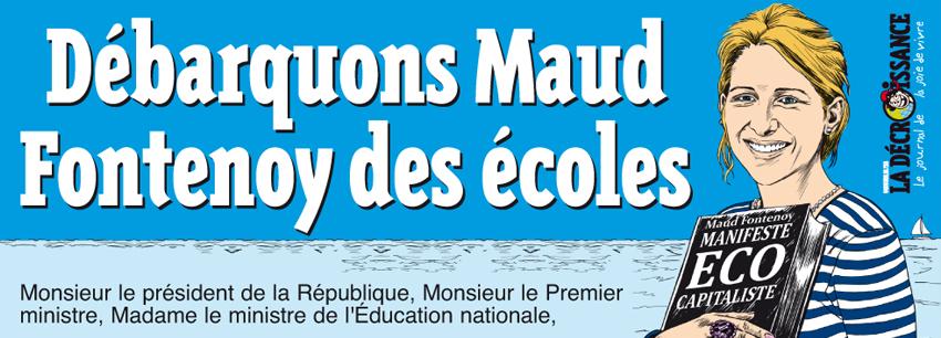 """PETITION """"Débarquons Maud Fontenoy des écoles """"pour protéger nos enfants"""""""