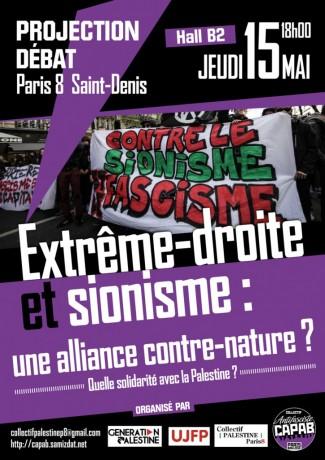 Extrême-droite et sionisme, une alliance contre-nature ? Quelle solidarité avec la Palestine ? ».