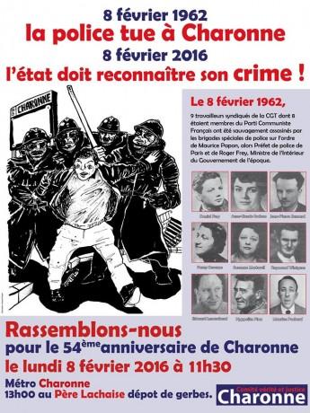Métro Charonne 8 février 1962