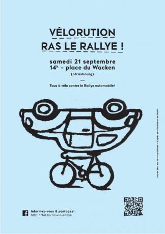 Vélorution: Ras le rallye 21 septembre 2013 Strasbourg