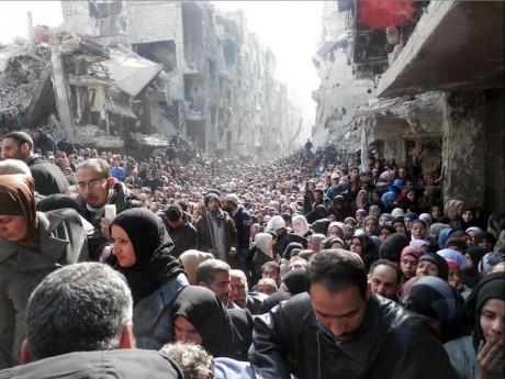 La situation dramatique du camp de Yarmouk en Syrie