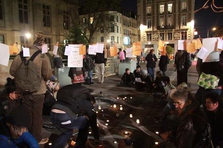Une ZAD s'est installée durant la nuit en plein Rouen