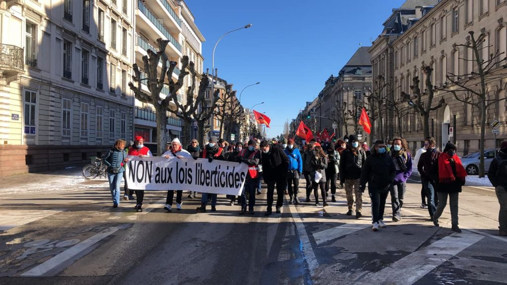 Strasbourg: 200 manifestants pour les libertés et contre l'islamophobie d'Etat