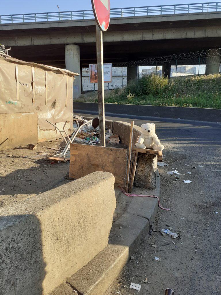 Un bidonville expulsé Porte de la Villette