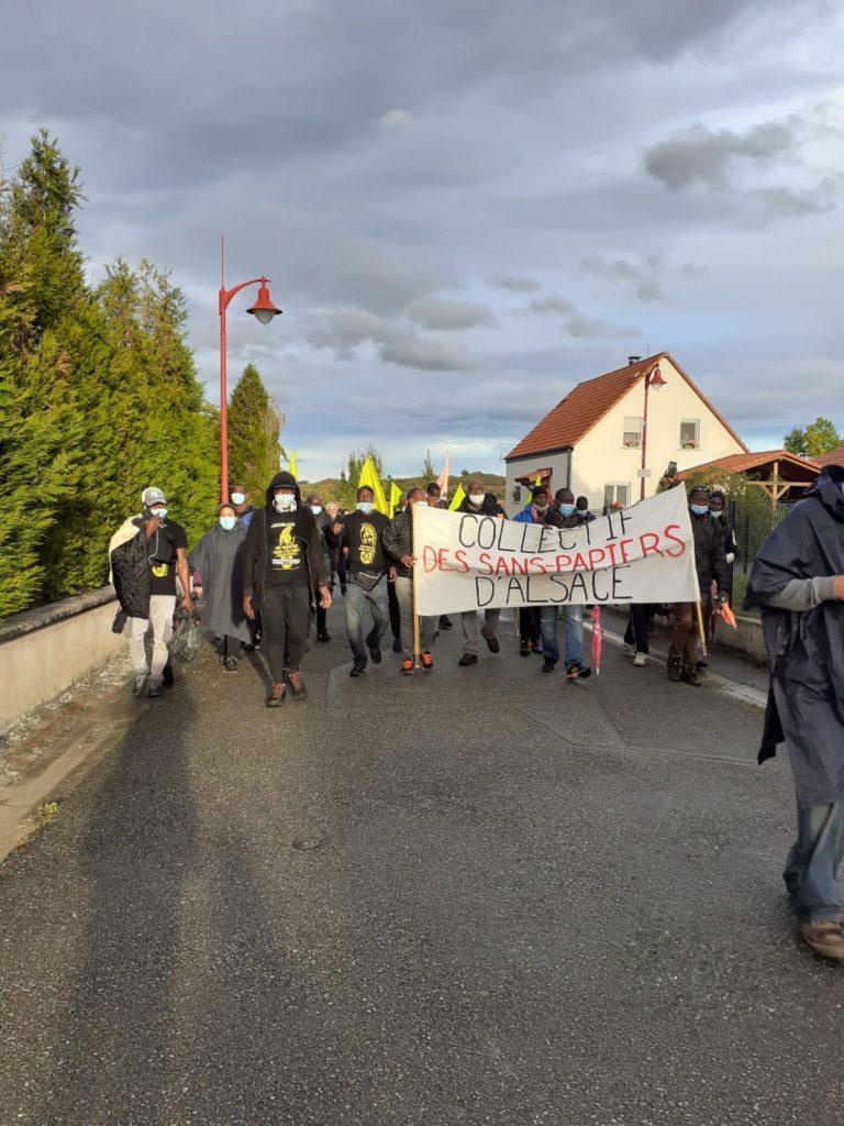 Marche des sans-papiers de Strasbourg à Reutenbourg