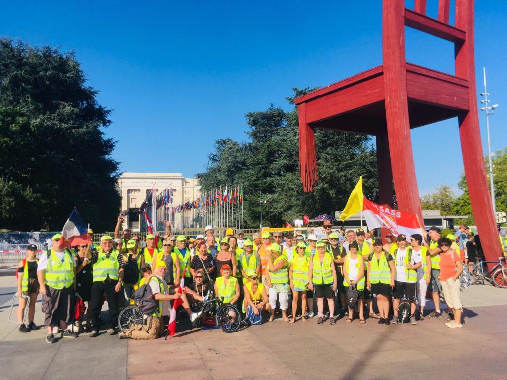 Genève/ Gilets jaunes, contre la répression en France et l'exportation de LBD 40 suisse
