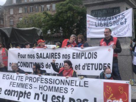 """5 octobre à Strasbourg: manifestation intersyndicale et """"Debout les femmes"""""""