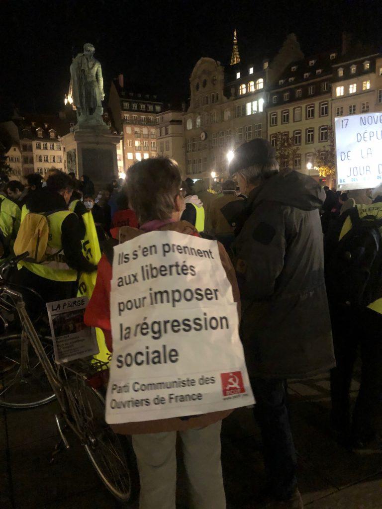 Trois cent manifestants avec les Gilets jaunes à Strasbourg