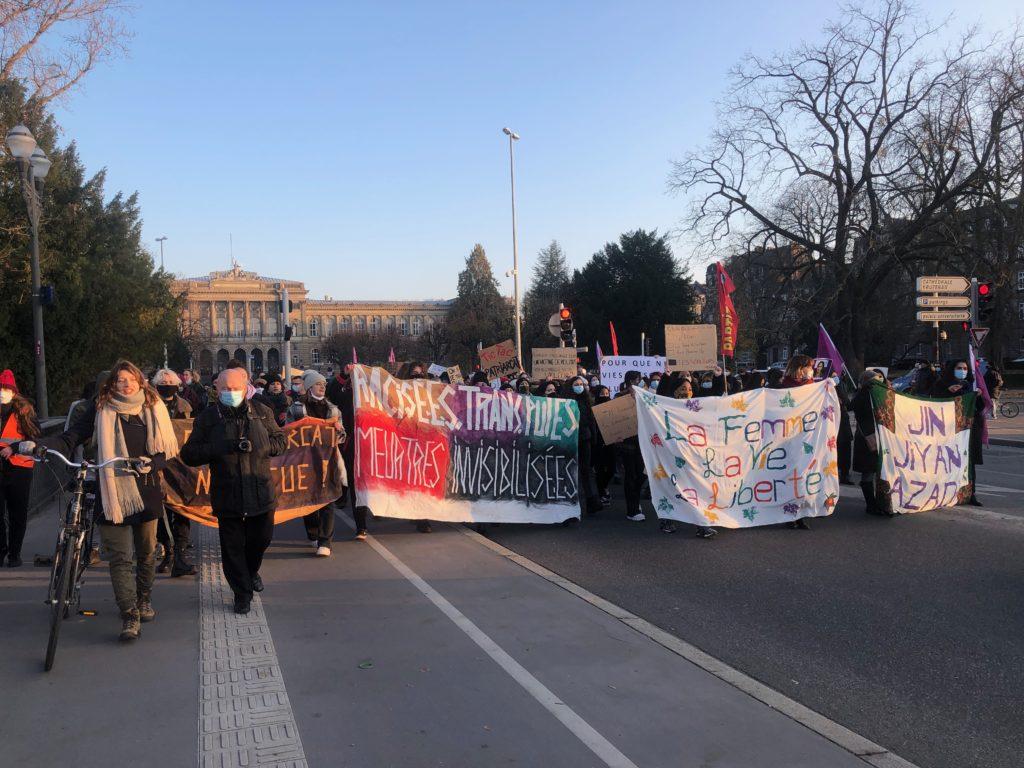 Manifestation de femmes contre les violences patriarcales à Strasbourg
