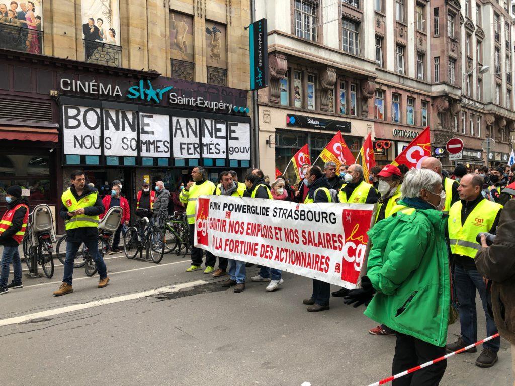 Manifestation intersyndicale à Strasbourg avec environ 700 personnes