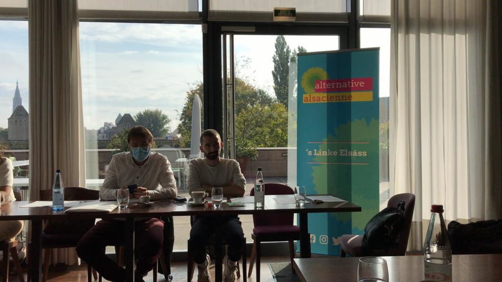 Conférence de presse de <em>alternative alsacienne s'Linke Elsàss </em>